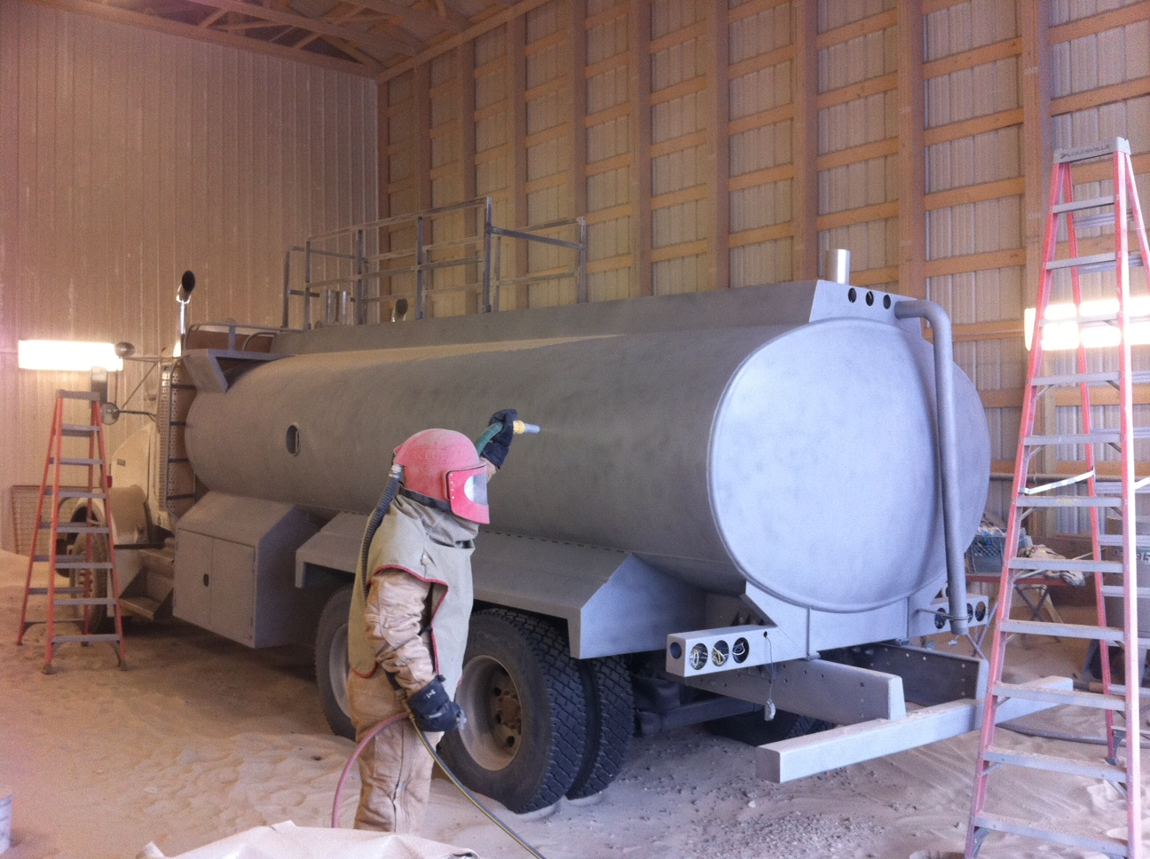 Okoro company w a limited blasting and painting for Sandblasting and painting